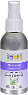Aura cacia Relaxing Lavender Aromatherapy Room & Body Mist 4 Oz (pack of 4)