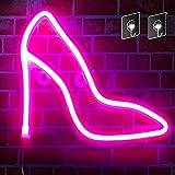 High Heels Lights Neon Sign - Wall Decor Neon Lights, Bedroom, Birthday Party, Living Room, Girls Room Decorative Lights Neon Signs, USB Battery Dual Use (Pink High Heels)