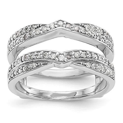 Anillo de oro blanco de 14 quilates con diamantes de 0,498 quilates de peso total