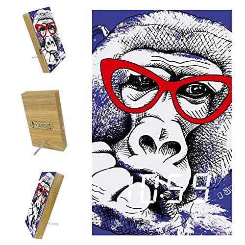 Bennigiry Funny Gorila Monkey I Am Cool - Reloj despertador LED digital con carga USB para oficina, cocina, sala de estar, decoración del hogar