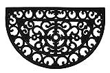 Zerbini in gomma per esterni; tappetini per ingresso esterni resistenti e durevoli; zerbino lavabile per uso esterno (gomma antiscivolo); tappetini esterni per porta d'ingresso