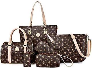 مجموعة حقائب يد تتكون من 6 حقائب بحمالة كتف وبتصميم حقيبة المراسلين