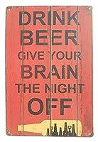 ビールアルコール飲料 メタルポスター壁画ショップ看板ショップ看板表示板金属板ブリキ看板情報防水装飾レストラン日本食料品店カフェ旅行用品誕生日新年クリスマスパーティーギフト