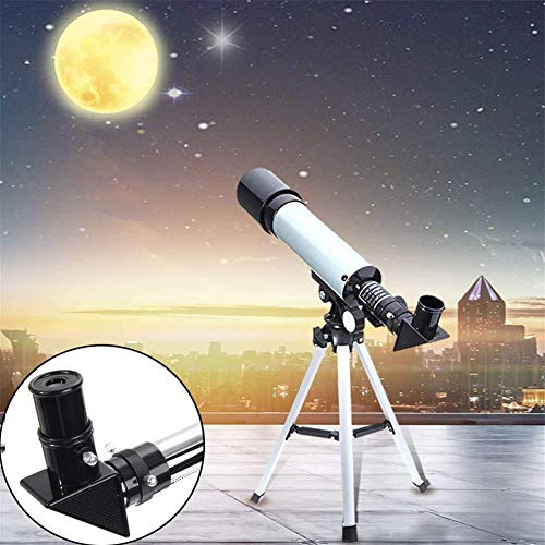Lukzer 90X High Power Refractor Monocular Astronomical Telescope for Kids with Portable Tripod to See Planets Galaxy Seeing Stars/Monocular Telescope for Long Distance (90X)