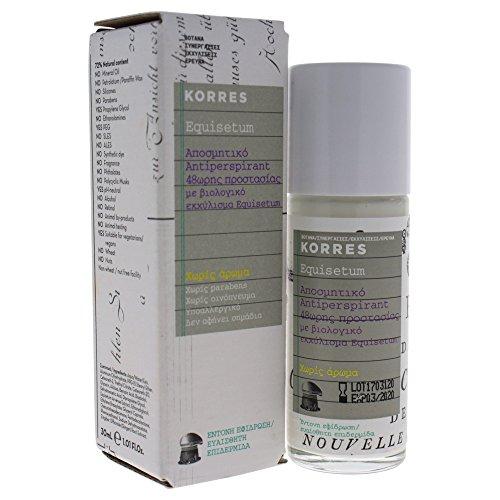 Korres Antiperspirant 48h Deodorant Parfümfrei,1er Pack (1 x 30 ml)