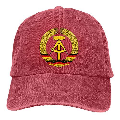 David A Beltran Escudo de Armas de Alemania del Este Sombrero de Mezclilla Estampado Sombreros de béisbol Vintage Ajustables Casquette de Mezclilla para Hombres Mujeres
