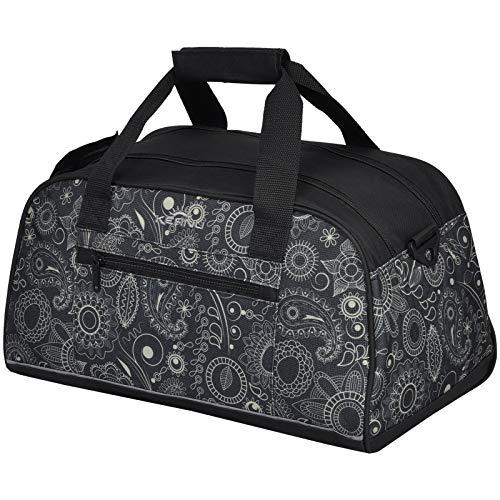 KEANU Ultra KOMPAKTE Sporttasche Schulsport Fitneßtasche Tasche Damen Mädchen/Herren Jungen 20 Liter Volumen mit Reflektor Stripe