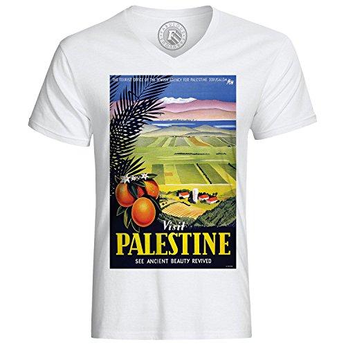 T-Shirt Visit Palestine See Ancient Beauty Vintage Travel Moyen Orient Orange Beau