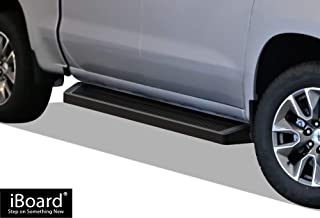 APS iBoard Running Boards (Nerf Bars Side Steps) Compatible with 2019-2020 Chevy Silverado GMC Sierra 1500 Crew Cab(Exclude 2019 Silverado Sierra 1500 LD) (Black Powder Coated Running Board Style)