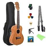 Guitare Hawaiian Acoustique Kmise Concert Ukulele Uke 23 Pouces 18 Frettes Sapele Bois (MI1850)