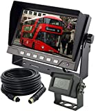 AUTOPAL 7' Wired Reverse Rear View Backup Camera System,Guide line,IP69K No Water Leakage Camera, Night Vision, Vibration-Proof 10G for Tractor/Truck/RV/Excavator/Caravan/Skid Steer/Heavy Equipment