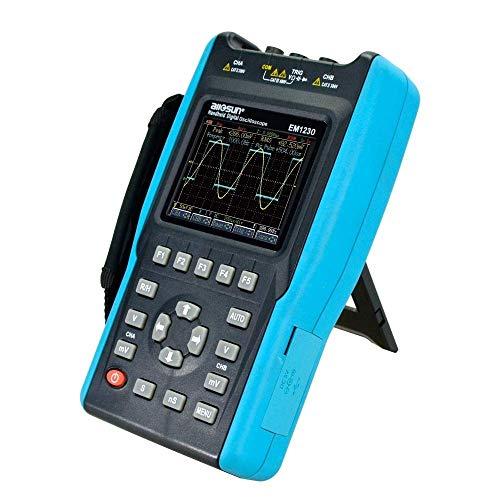 BXU-BG 2en1 Científico portátil de mano osciloscopio de 2 canales con pantalla a color Alcance Digital multímetro DMM 6000 cuentas EM1230