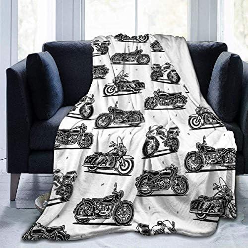 Tonesum Couverture en Polaire Moto Microfibre Couvertures de Literie Légères Lit Super Doux Confortable Canapé De Chaud Yoga Tapis Tapis Couvertures Jet L