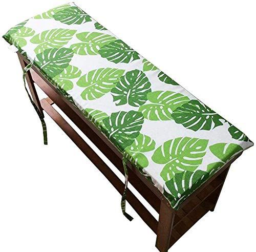Wcgcg - Cojín rectangular para muebles de jardín, 2 3 plazas, para exteriores, silla de jardín, cojín para silla de jardín, lavable, D, 87 x 28 cm