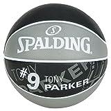 Spalding NBA Player Tony Parker Sz.7 83-380Z Pelota de Baloncesto, Hombre, Gris/Negro, 7