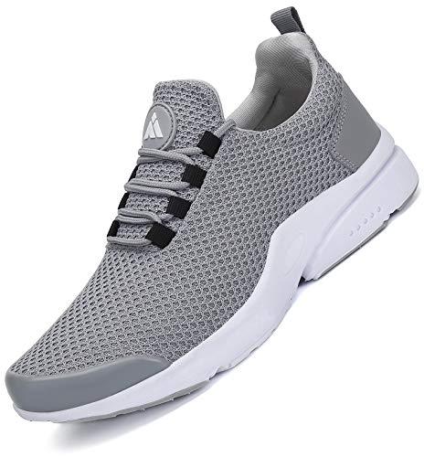 Mishansha Sportschuhe Herren Laufschuhe Mesh Leichte Turnschuhe Atmungsaktive Fitnessschuhe Damen Freizeit Outdoor Sneaker Grau 1 41 EU