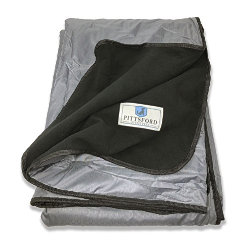 Pittsford Outfitters Spectator Outdoor Blanket   All Purpose Extra Large Rainproof & Windproof Stadium, Camp, Beach, or Picnic Blanket with Extra Soft, Plush & Warm Fleece Backing
