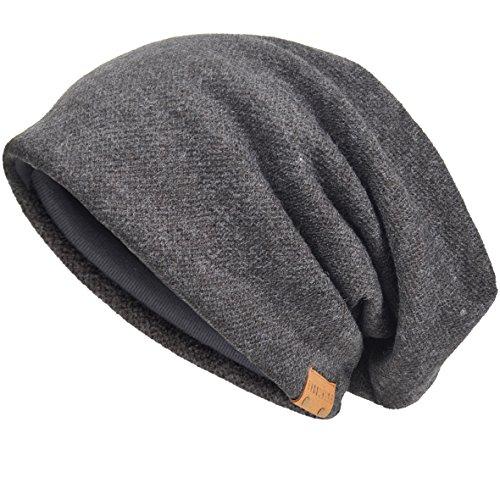 VECRY VECRY Herren Baumwolle Mütze Strickmützen Slouch Beanie Schädel Cap Winter Sommer Hüte (Grau)