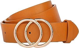 """Earnda Women's Leather Belt Fashion Soft Faux Leather Waist Belts For Jeans Dress 1 1/4"""" Width"""