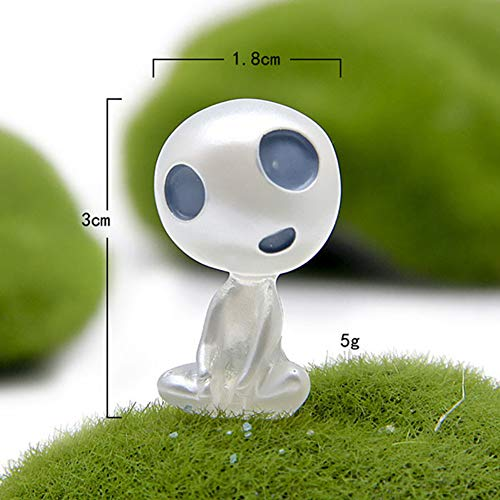 MeterMall Auto Ornament Hars Leuke Mini Lichtgevende Decoratie Alien Poppen Automobiles Interieur Bos Geest Elf Decor Luminous sitting,crooked neck type