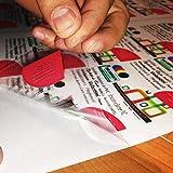 Carta ADESIVA A4 TRASPARENTE LUCIDA per stampanti laser fogli PVC VINILE (1) - 2AINTIMO®