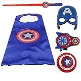 Towel Rings Avengers Captain America Bouclier Halloween Enfants Cape Hommes Et Femmes Costume Masque Bouclier épée Jouet