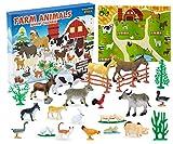 KreativeKraft Calendario Avvento 2020 con Animali Fattoria per Bambini, Calendario dell'avvento per Giochi della Fattoria, Advent Calendar Regalo Natale 2020