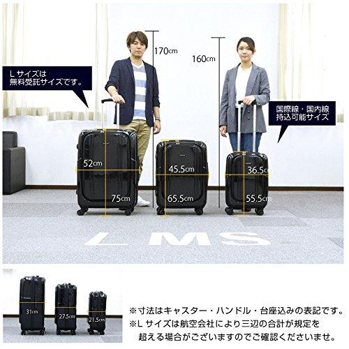 M型ブラック/AP7351(wallaby)TSAロック搭載スーツケースキャリーバッグ中型(3~5日用)