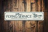 qidushop Flying Service Cartel Personalizado y vuelos de pasajeros con Orgullo para Servir USA Piloto Nombre Hombre Cueva Decoración Metal Signos para Mujeres Pared Post Lata Sign Presente