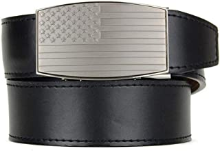 USA Belt Series Adjustable Leather and Nylon Ratchet Belts and Automatic Buckles for Men Nexbelt Ratchet System Technology
