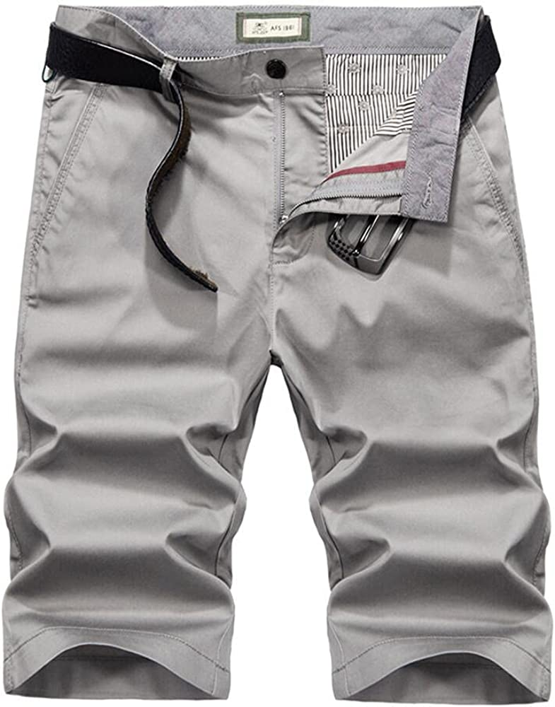 New Orleans Mall Mens Summer Tencel Shorts Work Classic Cotton OFFicial mail order Outdoor