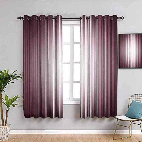 ZLYYH nursery curtains Purple gradient simplicity fashion W90'xL90'(45'x90'x2 panels) 2 Panel Curtains Blackout Top Drapes for Bedroom, Living Room, Window Eyelet Curtain, Ring Top, Thermal, Blockout