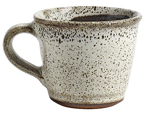 Nordal 7643 Kegelbecher mit Henkel/Henkelbecher/Kaffeetasse - Steinzeug - raw beige - Höhe 7 cm