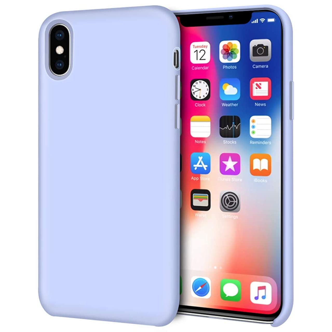 iPhone Xs Case, iPhone X Case, Anuck Anti-Slip Liquid Silicone Gel Rubber Bumper Case Soft Microfiber Lining Cushion Slim Hard Shell Shockproof Protective Case Cover for iPhone X/XS 5.8