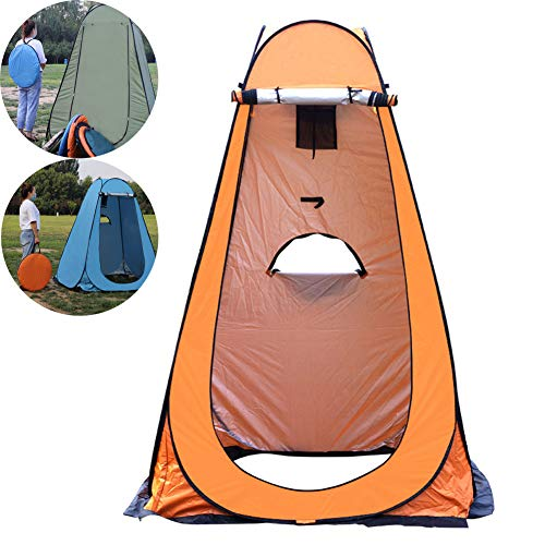 QZH Outdoor Shower Tent, Camping Camp Toilet Portable Pop Up Shower Privacy Tent Removable Dressing Changing Room Rain Shelter for Outdoor Camping Beach,2,double