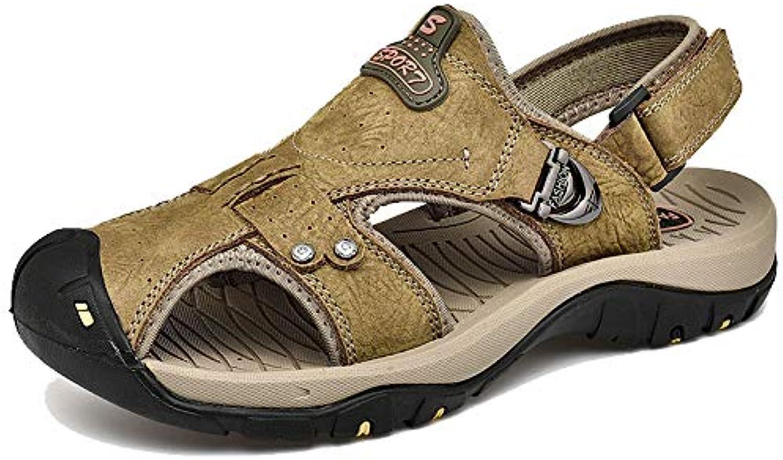 Herren Sport Outdoor Sandalen Sommer leichte Komfort Rutschfeste Strand Schuhe Mode Mnner Ledersandalen