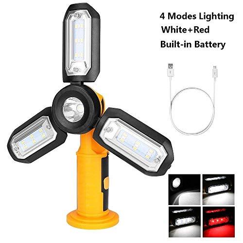 Camping Lichter Camping Leuchten und Laternen wiederaufladbare Licht USB aufladbare Arbeitslicht faltbare Taschenlampe Magnetic Beleuschtung Haken for Auto-Reparatur Camping-Zelt-Fischen-ohne Batterie