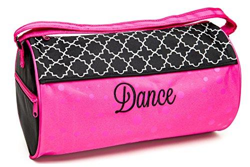 Sassi Designs Lattice & Dots Dance Medium Roll Duffel Bag