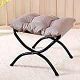 SS&LL Foldable Upholstered Resting Foot Stool,Soft Comfy Ottoman Footrest Stool,Portable Footstool Accent Seat for Living Room Bedroom and Outdoors-Velvet-c 45x40x40cm(18x16x16inch)