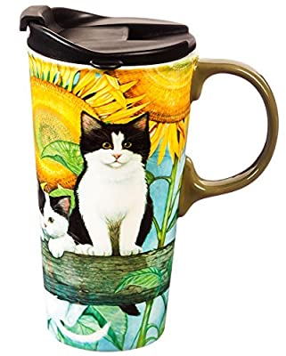Cute Kitty Colorful Porcelain To Go Tumbler