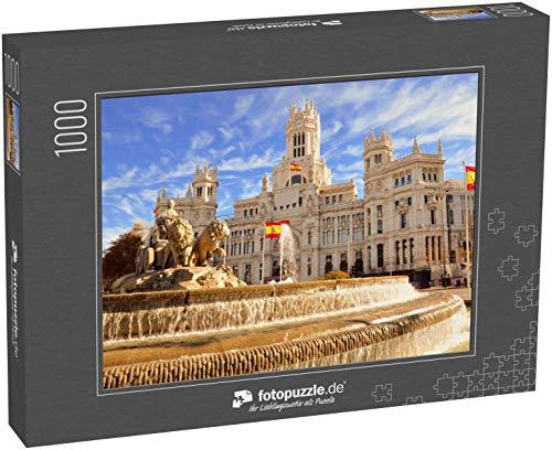 Puzzle 1000 Teile Der berühmte Cibeles-Brunnen in Madrid, Spanien - Klassische Puzzle, 1000/200/2000 Teile, in edler Motiv-Schachtel, Fotopuzzle-Kollektion 'Spanien'