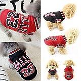 ForUUU Ropa Perros Pequeños, Camisas Perros Ropa Perros Verano Deporte Ropa de Perrito Traje Mascotas Perros Camiseta de Moda, Negro, Rojo (S, Rojo)