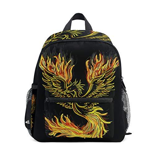 Mochila para niños con diseño de rayas, Phoenix Bird Fire - Columpio para pájaros (8 unidades), color rojo (Multicolor) - A01E18011-A