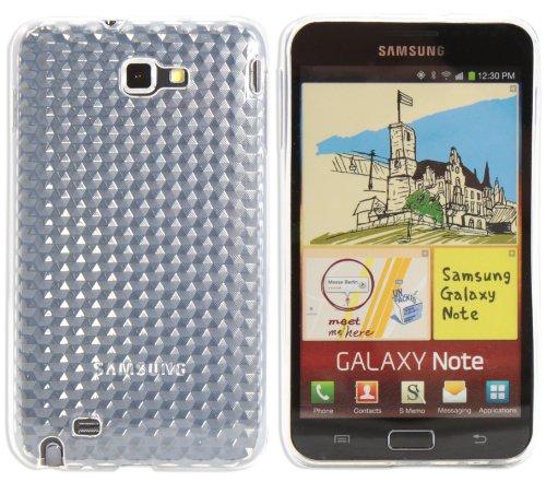 Luxburg® Diamond Design Schutzhülle für Samsung Galaxy Note GT-N7000 in Farbe Bergkristall Weiß, Hülle Case aus TPU Silikon