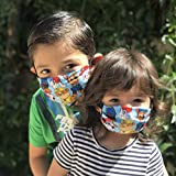 Paw Patrol Face Mask for kids and toddlers with filter pocket made of Washable Reusable 100% Cotton Fabric Made in USA Free Shipping