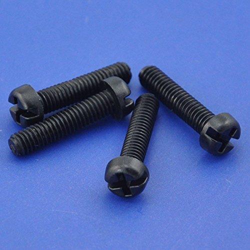 Electronics-Salon 10pcs M4 x 15 mm Vis à tête Phillips/à fente en nylon noir.
