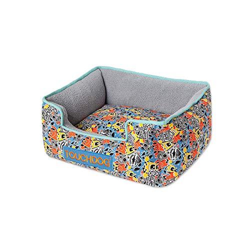 Ygccw Memory Foam Pluche Hond Bedden Hondenmand Bed Dekens Lounger Huisdier benodigdheden Kleine verse volledige wassen en wassen Teddy dan panda nest grijs 65 * 55 * 25cm