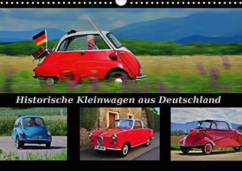 Historische Kleinwagen aus Deutschland (Wandkalender 2021 DIN A3 quer)