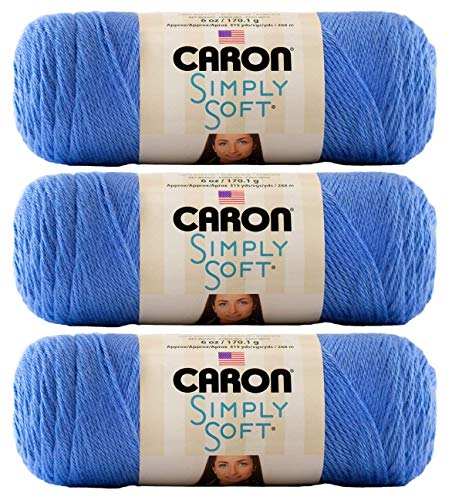 Caron CSS5753 Simply Soft Brites-Pack of 3 Balls-170g Each Ball-Berry Blue