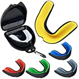 Vanmor Sports Mouth Guard, 6 Pack Youth Mouthguard for Youth Adults Double Colored Gum Shield with Free Box for Football Basketball Boxing MMA Hockey